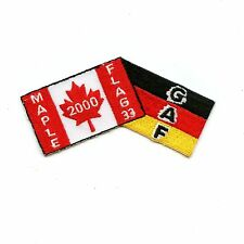RCAF CAF Canadian German 4 Wing Cold Lake 2000 Maple Flag Colour Crest Patch