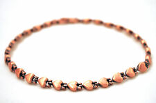 LADIES 10.5 INCH HEALING MAGNETIC THERAPY LINK ANKLET: Copper Hearts; For Pain!