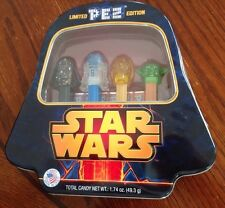 NIB Star Wars Collector Limited PEZ Edition 4 PEZ Dispensers And Candy.