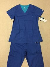 MC2 By Med Couture Scrub Set Small Royal Blue NEW