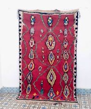 Azilal Rug 7 ' 5 x 4 ' 5 Moroccan Rug Handmade Authentic Wool Carpet Beni Ourain