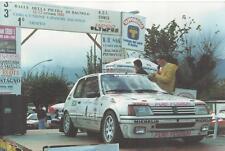 FOTOGRAFIA  ORIGINALE _ RALLY DELLA PIETRA DI BAGNOLO PIEMONTE _1991_ PEUGEOT