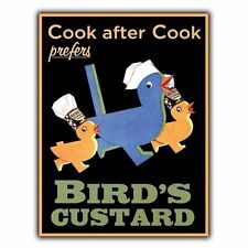 BIRD'S CUSTARD Vintage Advert METAL SIGN WALL PLAQUE poster print picture