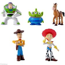 Cartoon 5pcs/Set Toy Story 3 Woody Jessie Buzz Lightyear PVC Figures Cake Topper