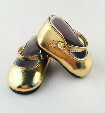 2017 A+ cute fashion new gold shoes for 18inch American girl doll party b383