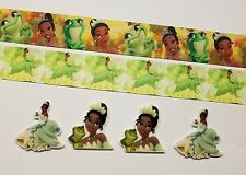 2 Yards & 4 Resin Mixed lot The Princess and the Frog Inspired Grosgrain Ribbon