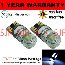 2X W5W T10 501 CANBUS ERROR FREE WHITE CREE LED SIDELIGHT BULBS BRIGHT SL103004