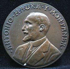 SPAIN ANTONIO MAURA Y MONTANER PRIME MINISTER 1917 MEDAL.