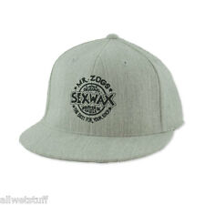 Sex Wax Hat Cap Sexwax Gray Flexfit Baseball Surf Skate Skim Fish Gift FREE SHIP