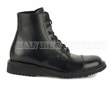 PRADA MENS ANKLE BOOTS BLACK LEATHER LACEUP LOGO DETAIL sz 6.5 / 7.5US / 40.5 IT