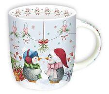 Becher Pinguine in Love Porzellan 0,25 l bunt Weihnachten Winter
