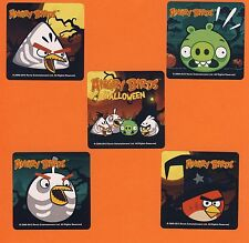10 Angry Birds Halloween - Large Stickers - Party Favors