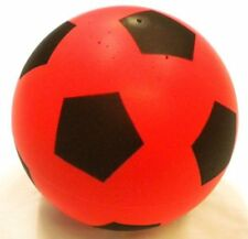 Soft foam football sponge 20 cm ball indoor outdoor soccer toy - size 5, red