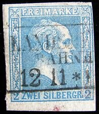 TOTALLY DISREGARD MY ASKING PRICE – GERMANY-PRUSSIA – Sc#12 – 2sg – 1858-60–BLUE
