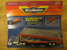 OLD THE ORIGINAL MICRO MACHINES MINIATURES BIG RIG HAULER RACE TEAM TRUCK CARDED