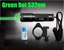 532NM Green Dot Laser Sight For Gun Pistol Scope 20mm Mount Flashlight