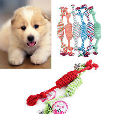 1X Puppy Dog Pet Chew Toy Cotton Exercise Braided Knot Play Toy Rope Random