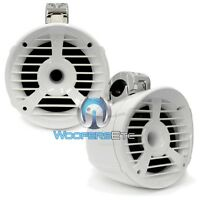 """(2) MEMPHIS 15-MM62TW WHITE  6.5"""" MARINE 2 OHM 200W BOAT TOWER SPEAKERS PAIR NEW"""