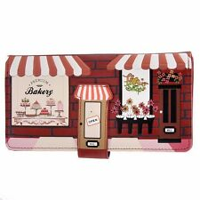 SHAGWEAR ZIP AROUND RED VINTAGE STOREFRONT WALLET NEW W/GIFT BOX