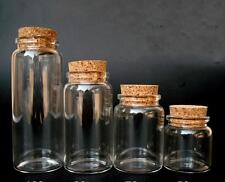 10pcs 50ml Empty Sample Vials Clear Glass Bottles with Corks Jars