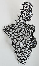 SIGNED COREY ELLIS NUDE FEMALE TORSO SEXY METAL WALL SCULPTURE STATUE LIFE SIZE