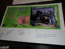 1996 17X11 PROOF PRODUCTION POSTER ROUGH FPO ART BURGER KING TOY STORY BUZZ PIG