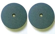 "2 PC 6"" Emory Style Grinding Stone Wheel For Bench Grinders - 3/4"" Thick (Fine)"