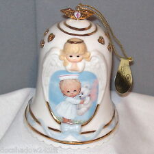 Healing Touch TENDER LOVING CARE 2002 #1 Porcelain Bell Ornament Bradford 87401