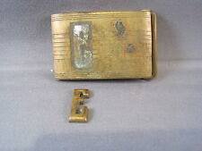 """Vintage Pioneer Belt Buckle Initial """"E"""" w/ Patent Number"""