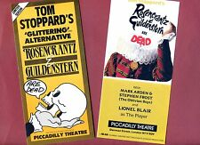 Set LIONEL BLAIR ROSENCRANTZ & GUILDENSTERN Theatre Flyer Handbills