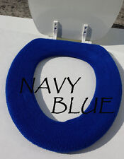 Bathroom Toilet Seat Warmer Cover  Washable - Navy Royal Blue - LifeLong Needs