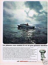 Publicité Advertising 026 1967 Johnson moteurs de bateaux pour la pêche