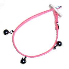 collier couleur rose pour chat  avec clochette 30 cm