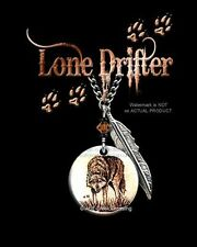 "LONE DRIFTER WILD WOLF NECKLACE for MALE or FEMALE - 24"" ART WOLVES GIFT SALE C*"