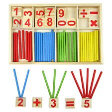 Wooden Montessori Mathematics Material Early Learning Educational for Kids ST