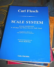 Scale Exersises, for the Violin, by Carl Flesch