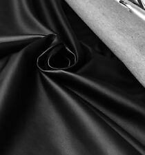 LUXURIOUS BLACK SOFT LEATHER  FABRIC BY PANAZ  1.5 METRES