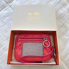 COACH POPPY SIGNATURE WRISTLET WALLET WITH ORIGINAL GIFT BOX