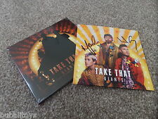 Take That - Giants 2 x CD SINGLE 2017 **SIGNED** RARE! NEW! Polydor Barlow
