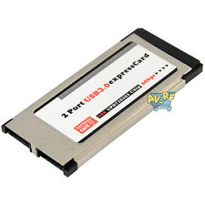 Notebook 5Gbps 34mm Express Card Expresscard to 2 Port USB 3.0 Notebook Adapter
