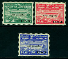 """BRAZIL 1930 AIRMAIL - """"Graf Zeppelin"""" overprinted set  Sc# 4CL8-10 mint MNH - R"""