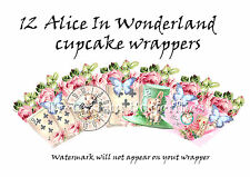 cake cupcake wrappers party wrappers  Alice wonderland wrappers party decoration