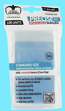 100 ULTIMATE GUARD PRECISE FIT RESEALABLE STANDARD SIZE Card SLEEVES Clear Sport