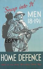 WW2 ARMY HOME DEFENCE BATTALIONS HOME GUARD ARMY RESERVE TA POSTER NEW A4 PRINT