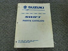 1990 Suzuki Swift Parts Catalog Manual Sedan Hatchback GL GA GLX GT 1.3L