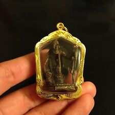 CHUCHOK LP Pramot Thai Amulet Bronze Good Business Luck Love Charm Attract