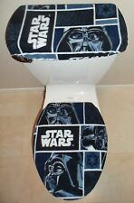STAR WARS Darth Vader Fleece Fabric Toilet Seat Cover Set Bathroom Accessories