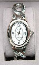 ECCLISSI Sterling Silver MOTHER OF PEARL Chain Link Watch 33480 - NEW WITH BOX