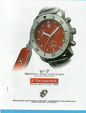 AUTO999-PUBBLICITA'/ADVERTISING-1999- VICTORINOX WATCH COLLECTION