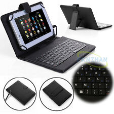 "PU Leather Case Cover Micro USB Keyboard For Kindle Fire 7"" inch (2015 Edition)"